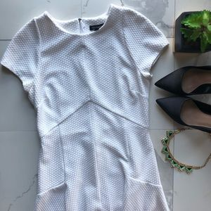Banana Republic White Cap Sleeve A Line Dress